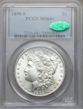 Morgan Dollars: , 1898-S $1 MS64+ PCGS. CAC. PCGS Population (1168/468). NGC Census:(610/117). Mintage: 4,102,000. Numismedia Wsl. Price for...
