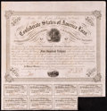 Confederate Notes:Group Lots, Ball 221 Cr. 121 $500 1863 Bond Very Fine.. ...