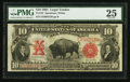 Large Size:Legal Tender Notes, Fr. 122 $10 1901 Legal Tender PMG Very Fine 25.. ...