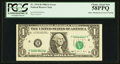 Error Notes:Shifted Third Printing, Fr. 1914-H $1 1988 Federal Reserve Note. PCGS Choice About New 58PPQ.. ...
