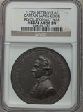 Betts Medals, (1776) Captain James Cook, Revolutionary War AU58 NGC.Betts-553....