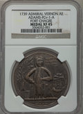 Betts Medals, 1739 Admiral Vernon, Fort Chagre XF45 NGC. Betts-277,Adams-FCv-1-A....