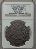 Betts Medals, (circa-1740) Admiral Vernon, Porto Bello Taken VF30 NGC. Betts-271,Adams-PB-2-D. Copper....