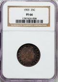Proof Barber Quarters: , 1903 25C PR66 NGC. NGC Census: (34/51). PCGS Population (23/18). Mintage: 755. Numismedia Wsl. Price for problem free NGC/P...