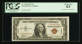 Small Size:World War II Emergency Notes, Fr. 2300 $1 1935A Hawaii Silver Certificate. PCGS Choice New 63.. ...
