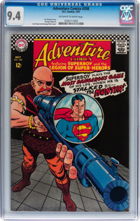 Adventure Comics #358 (DC, 1967) CGC NM 9.4 Off-white to white pages