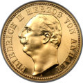 German States:Anhalt-Dessau, German States: Anhalt-Dessau. Friedrich II gold Proof 20 Mark1904-A,...