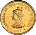 Brazil: Republic gold 20000 Reis 1911
