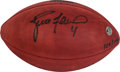 Football Collectibles:Balls, Brett Favre and Mike McCarthy Dual Signed NFL Wilson Leather Football....