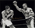 Boxing Collectibles:Autographs, Rubin Hurricane Carter Signed Oversized Photograph....