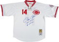 "Baseball Collectibles:Uniforms, Pete Rose ""Hit King #4256"" Signed Cincinnati Reds Jersey...."
