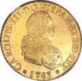 Chile, Chile: Carlos III gold 8 Escudos 1763-So J,...