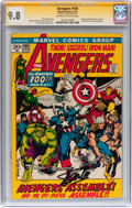 Bronze Age (1970-1979):Superhero, The Avengers #100 Signature Series (Marvel, 1972) CGC NM/MT 9.8Off-white to white pages....