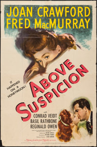 "Above Suspicion (MGM, 1943). One Sheet (27"" X 41"") Style C. Thriller"