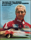 "Movie Posters:Sports, Paul Newman Budweiser Racing Poster (Anheuser-Busch, 1979). Advertising Posters (23) (22"" X 28""). Sports.. ... (Total: 23 Items)"