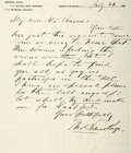 "Autographs:Authors, American Writer Thomas Nelson Page (1853-1922) Autograph Letter Signed ""Thos Nelson Page"". One page, 6"" x 7"", Manhattan ..."