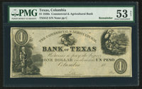 Columbia, TX- The Commercial & Agricultural Bank of Texas $1 Remainder G2 Medlar 18
