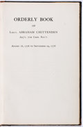 Books:Americana & American History, [Revolutionary War] Orderly Book of Lieut. Abraham ChittendenAdj't. 7th Conn. Reg't. August 16, 1776 to September 29, 1...