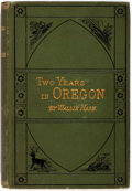 Books:Americana & American History, Wallis Nash. Two Years in Oregon. D. Appleton and Company,1882. With two-page autograph letter by the author la...