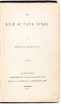 Books:Biography & Memoir, Edward Hamilton. The Life of Paul Jones. George Clark and Sons, 1848. First edition. Publisher's original blue c...