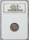 Coins of Hawaii: , 1883 10C Hawaii Ten Cents AU58 NGC. NGC Census: (43/110). PCGSPopulation (34/140). Mintage: 250,000. ...