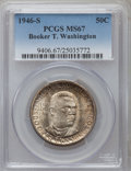 Commemorative Silver: , 1946-S 50C Booker T. Washington MS67 PCGS. PCGS Population (82/2).NGC Census: (75/2). Mintage: 500,279. Numismedia Wsl. Pr...