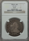 Early Half Dollars, 1806/9 50C 6 Over Inverted 6 Fine 12 NGC. O-112. NGC Census:(6/50). PCGS Population (16/83). Numismedia Wsl. Price for pr...