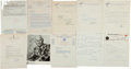 Autographs:Letters, Baseball Letters And Notes Collection Of 20+....