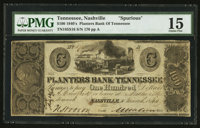 Nashville, TN- Planters Bank of Tennessee $100 March 4, 1844 S16 Garland 1006