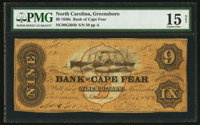 Wilmington, NC- Bank of Cape Fear $9 Oct. 25, 1858 G304b