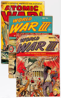 Golden Age Atomic War Related Group (Various Publishers, 1950s) Condition: Average GD-.... (Total: 5 Comic Books)