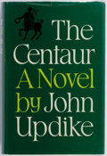 Books:Fiction, John Updike. INSCRIBED. The Centaur. Andre Deutsch, 1963.First English edition. Inscribed by the author on the ...