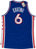 Basketball Collectibles:Uniforms, Julius Dr. J Erving Signed Philadelphia 76ers Jersey....