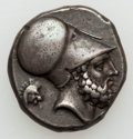 Ancients:Greek, Ancients: LUCANIA. Metapontum. Ca. 340-330 BC. AR stater (7.94gm)....