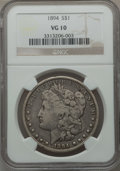 Morgan Dollars: , 1894 $1 VG10 NGC. NGC Census: (42/2839). PCGS Population (54/4047). Mintage: 110,972. Numismedia Wsl. Price for problem fre...