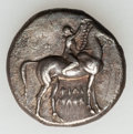 Ancients:Greek, Ancients: CALABRIA. Tarentum. Ca. 302-280. AR stater or nomos (7.72gm)....