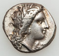Ancients:Greek, Ancients: LUCANIA. Metapontum. Ca. 330-290 BC. AR stater (7.66gm)....