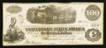 Confederate Notes:1862 Issues, T40 $100 1862 PF-4.. ...