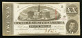 Confederate Notes:1863 Issues, T58 $20 1863 PF-4 Cr. 418. . ...