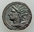 Ancients:Greek, Ancients: SICILY. Siculo-Punic. Lot of three (3) Æ coins....(Total: 3 coins)