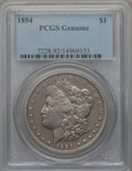 Morgan Dollars, 1894 $1 PCGS Genuine. The PCGS number ending in .92 suggests Cleaning as the reason, or perhaps one of the reasons, that PC...