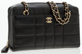 Luxury Accessories:Accessories, Chanel Black Quilted Leather Chocolate Bar Bag. ...