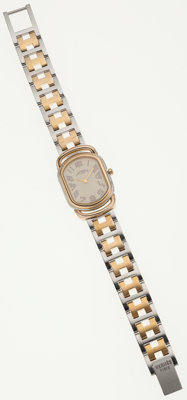Hermes Two Tone Gold Plated & Stainless Steel Rallye Watch