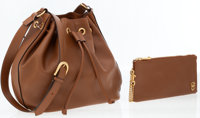 Chloe Brown Leather Aurore Bucket Bag