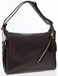 Luxury Accessories:Accessories, Jimmy Choo Brown Leather Lilly Whipstitch Tassel Hobo Bag. ...
