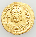 Ancients:Byzantine, Ancients: Maurice Tiberius (AD 582-602). AV solidus (4.47 gm)....