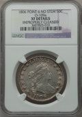 Early Half Dollars: , 1806 50C Pointed 6, No Stem -- Improperly Cleaned -- NGC Details.XF. O-109a. NGC Census: (0/0). PCGS Population (39/127)....