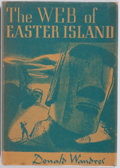 Books:Horror & Supernatural, Donald Wandrei. The Web of Easter Island. Arkham House,1948. First edition. Publisher's original cloth and dust...