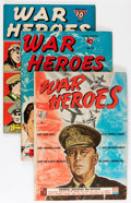 Golden Age (1938-1955):War, War Heroes #1-10 Group (Dell, 1942-44) Condition: Average VG/FN....(Total: 10 Comic Books)