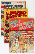 Golden Age (1938-1955):Non-Fiction, It Really Happened/World Famous Heroes Group (Standard, 1940s)Condition: Average GD+.... (Total: 15 Comic Books)